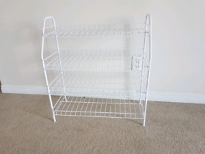 4 Tier Iron Mesh Shoe Rack