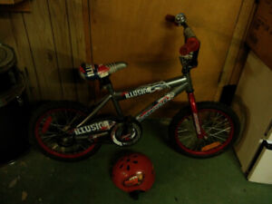 Small Boys Supercycle bike w/ Car's Helmet