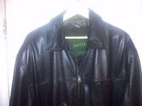MENS BLACK LEATHER DANIER JACKET SIZE XL DEAL AT $50