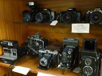 Vintage Cameras, SLRs, Folding Cameras, Collectable Cameras & Accessories, Bags & Tripods