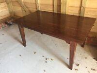 Laura Ashley Garrat Dark Chestnut Table With 6 Matching Garrat Dark Chestnut Chairs(RRP £1487)