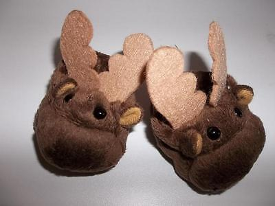 Brown Moose Slippers made for 18