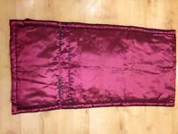 Deep red/purple double bed end dresser - brand new