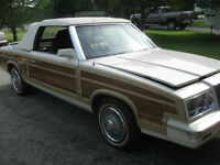1983 Chrysler Lebaron Town & Country Conv,low miles, woody