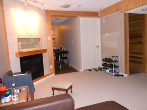 Separate entrance suite with jet tub - all utilities included