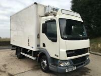 2005 55 DAF LF45.150 solomon fridge box meat rails and lift, hubbard freezer