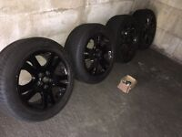 """19"""" rangerover transporter t5 alloy wheels with t5 fitting kit 5x120"""
