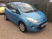 Ford ka style 1.2 09 reg low mileage long mot £30 road tax excellent condition £25 a week on finance