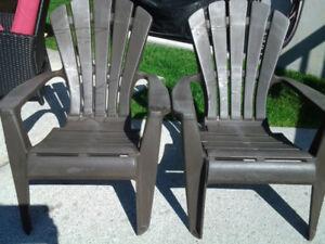 2 chaises adirondak