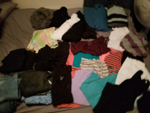 Bag full of womens clothes