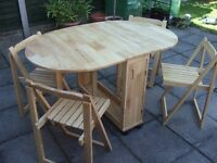 Drop Leaf Butterfly Table & Chairs