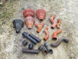 Cast Iron gutter fittings hopper down pipes