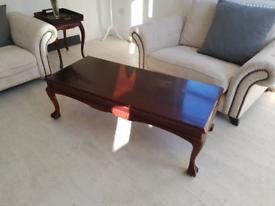 Large Vintage hardwood Coffee Table