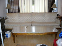 Table basse marble wood coffee table (matches with couch sofa)