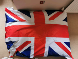 Giant outdoor Union Flag Beanbag