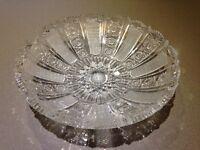 Lead cut crystal dish