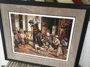 Signed Jim Daly Framed Limited Print- The Ice Man