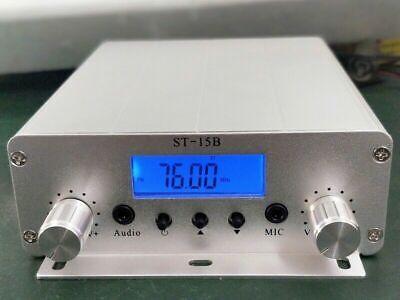 St-15b 76mhz-108mhz 15w Pll Fm Transmitter Stereo Fm Broadcast Radio Station