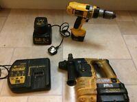 DeWalt sds and cordless drill