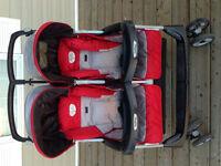 Peg Perego 40/60 split double stroller
