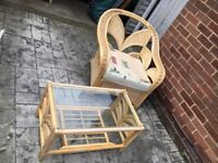 1980's cane garden or conservatory furniture full set