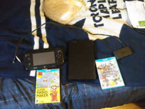 Wii U with Smash Bros, Super Mario Maker and Gamecube adapter!