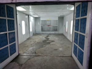 Paint booth for sale 28ft down draft