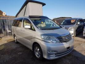 TOYOTA ALPHARD WITH POP UP ROOF, 2007, 2.4 56,734 MILES IN SILVER