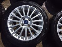 "16"" GENUINE FORD FIESTA ZETEC S ALLOY WHEELS with MATCHING TYRES"