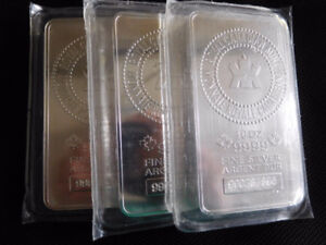 10 OUNCE 9999 SILVER ROYAL CANADIAN MINT BARS