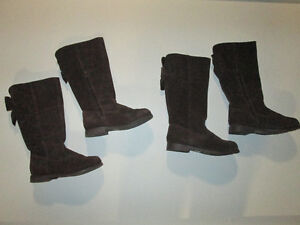 Gymboree Brown Suede Girls Tall Boots -size 2