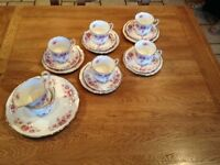 Elizabethan queens roses China vintage tea set