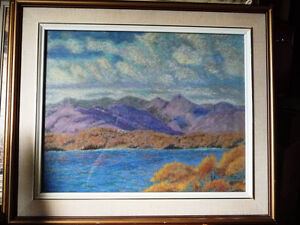 Original British Lake District Pastel by Billie Appleton 1987 Stratford Kitchener Area image 1