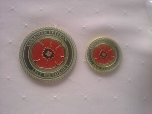 CANADIAN MEDALLION OF HONOR BRONZE MILITARY GRAVESTONE EMBLEM
