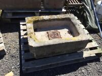 Vintage Stone trough planters