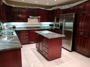 KITCHEN  COMPLETE -  ALL WOOD WITH GRANITE COUNTER-TOP