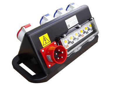 New European Rubber Box Co Ltd 32 Amp Power Distribution Box - Model Rubtr6