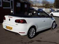 2013 63 VW GOLF 1.6 TDI SE TURBO DIESEL BLUEMOTION TECH CABRIOLET CONVERTIBLE