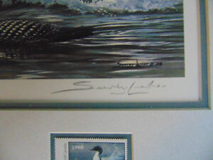 1988 Ducks Unlimited Canada plus Conservation stamp 50yrs London Ontario image 3