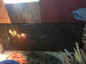 Granite countertop, 6 ft