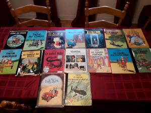 80% DE RABAIS !!! 16 BD de les aventures de Tintin