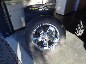 "4- 17"" Firestone Destination  M+S tires on Ford Escape Rims"