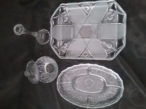 Assorted Crystal dishes