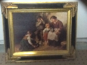 Framed print of Puppies Playtime by Felix Schlesinger London Ontario image 1