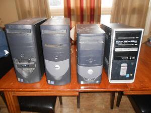 4 ordinateurs avec window XP 100$
