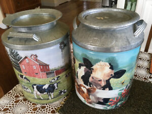 Farm theme tins or plant stands