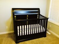 Espresso crib with toddler bed conversion!
