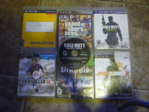 ps3 , controller and 7 games