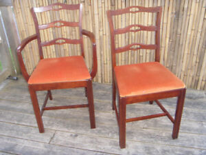 Vintage 1940's Dining Room Chairs (5) Head chair plus 4