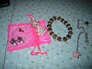 Earrings, Bracelet and Necklace